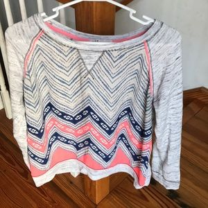 Fun Jolt neon and gray sweater size large